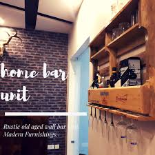 pared mini bar unit solid wood