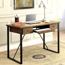 office computer tables. Schevron Mid Century Industrial Rustic Design Home Office Computer/ Writing Desk With Keyboard Drawer Computer Tables D