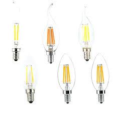 filament candle led base lamp torpedo shape bullet top candelabra light flame tip best bulbs 100w