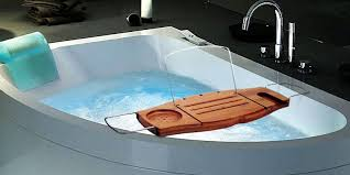 aquala luxury bamboo bathtub caddy. umbra aquala bamboo bathtub caddy in the use luxury
