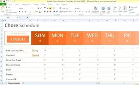 Weekly Household Chores Household Chores Chart Template Weekly Chore Schedule For Excel 1