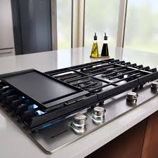 36 inch gas cooktop with griddle. Exellent With KitchenAid 36 Inch 5 Burner Gas Cooktop With Griddle In Stainless Steel  KCGS956ESS Intended Inch Gas Cooktop With Griddle R