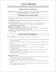 Simply Sample Resume For Assistant Teacher In Preschools Stock Of