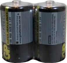 <b>Батарейка D GP</b> R20 Supercell (2) (20/200) ..