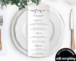 Menu Card Template Diy Wedding Menu Template Printable Wedding Menu Cards Menu Card Printable Dinner Menu Download Diy Menu Card Template Printable Menu Card