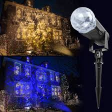 Blue White Outdoor Christmas Lights Outdoor Projector Lights Waterproof Outdoor Christmas
