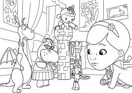 Doc Mcstuffins Coloring Pages Fancy Line Drawing Disney Junior 8 O