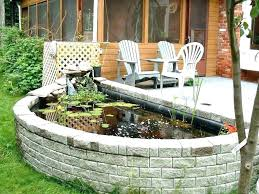 above gro pond kits fish containers patio ponds images garden how to build ground designs small