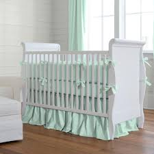 solid mint crib bedding