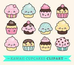 cute cupcake clipart. Exellent Clipart Premium Vector Clipart  Kawaii Cup Cakes Cute Cupcakes Set  High Quality Vectors With Cupcake
