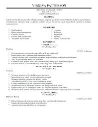 Cashier Resume Description Restaurant Cashier Resume 46