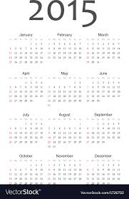free year calendar 2015 european 2015 year calendar royalty free vector image