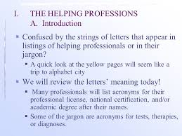 Acronyms In The Helping Professions A Guide To The Perplex Ppt