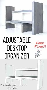 diy corner desk organizer gray and white wooden desktop organizer with model image premier furniture designs