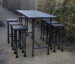 industrial style outdoor furniture. High Gas Pipe Bar Table This Impressive Industrial Style Is Produced Using 33.7mm Mild Outdoor Furniture