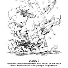 Veterans day coloring page sheets for kids. World War Ii Printable Worksheets And Coloring Pages