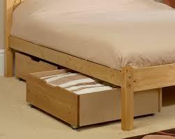 Under Bed Storage Drawers Wood — Modern Storage Twin Bed Design