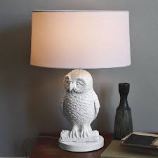 owl table lamp white west elm
