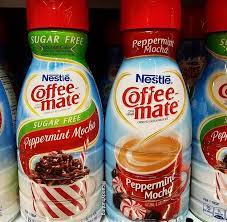 This delicious favorite blend smooth creamer with dashes of peppermint and rich mocha for a taste that will warm your heart. Coffee Mate Regular And Sugar Free Peppermint Mocha Coffee Creamers Peppermint Mocha Coffee Creamer Coffee Flavors Drinks