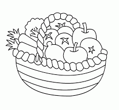 Small Picture Printable Fruit Basket Coloring Pages Fruit Coloring OColoring