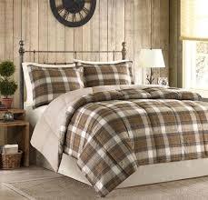 rustic king comforter rustic cabin comforter set king size 3 piece brown plaid down alternative rustic