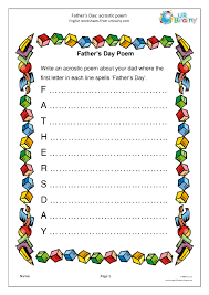 father s day acrostic poem special