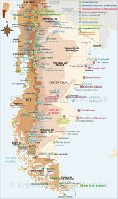 map of patagonia national parks and natural reserves