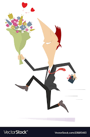 bunch of flowers and present vector image