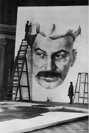images about Josef Stalin on Pinterest Students of the Leningrad Academy of Art preparing the giant portrait of Stalin for the festive