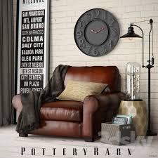 pottery barn turner roll armchair set