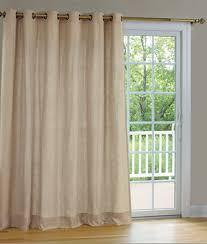 Half Rod Pocket Door Curtain Single Panel • Patio Doors and Pocket Doors
