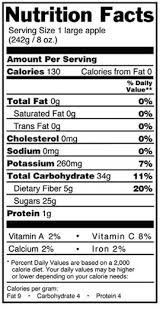 apple nutrition label