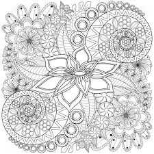Flower Swirl Coloring Page Pattern. Very Detailed Background ...