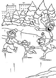 Kinderpleinen Wintersport Kleurplaten