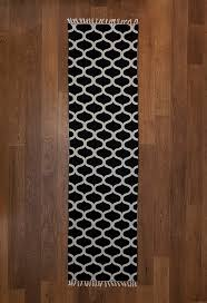 hallway rugs rug runner black and white area by carpetism white cotton runner rug