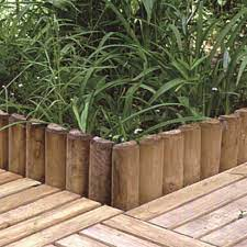 log roll border garden products