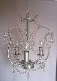 Ikea Kronleuchter Kristaller Silberfarben Dreiarmig Aus Glas Hängeleuchter Ovp