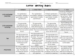 Letter Writing Rubric Letters Font