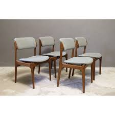 set of 4 grey chairs n 49 by erik buch for o d mobler as 1960s design market