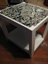 Tedious Tinkering: Mirrored Mosaic Tables diy infinity mirror coffee table