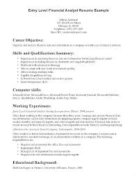 Examples Of Resume Objectives Extraordinary Resume Objective Finance Entry Level Objective Resume Entry Level