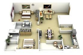 40 large 2 bedroom apartment planbachelor floor plan 3d studio plans pdf