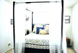 King Size Canopy Bed With Curtains Canopy King Size Canopy Bed ...