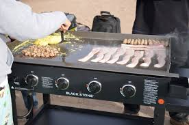 outdoor gas griddle cooking