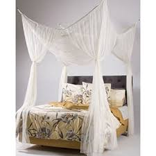 Woven Polyester Four-Point Bed Canopy (76'' x 84'' x