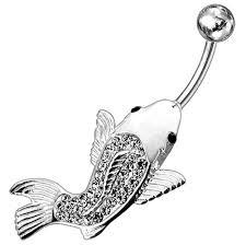 Koi Fish Design Amazon Com Clear Multi Crystal Stone Koi Fish Design 925