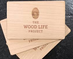Wooden Business Cards Inspirwood Real Wood With Great