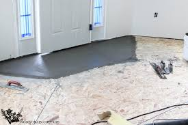 tiling over painted concrete floor floor tile my home interior