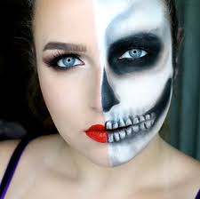 tutorial half skull glam um face mexican makeup