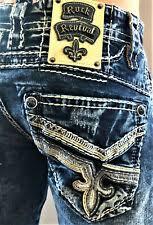 Rock Revival Jeans Size 32 For Men For Sale Ebay